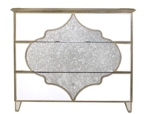 Morocco 3 Drawer Mirror Cabinet