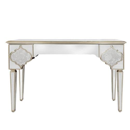 Morocco 3 Drawer Mirror Console Table
