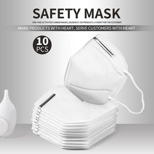 N95 Safety Face Mask White Pack of 10