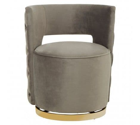 Pola Velvet Chair Grey