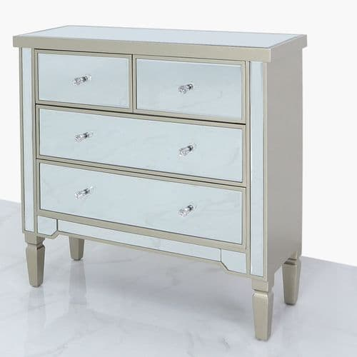 Richmond Chest 4 Drawer Dark Champagne