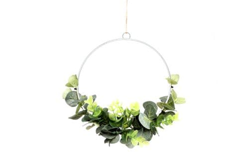 Round Floral Green Hanging Decoration