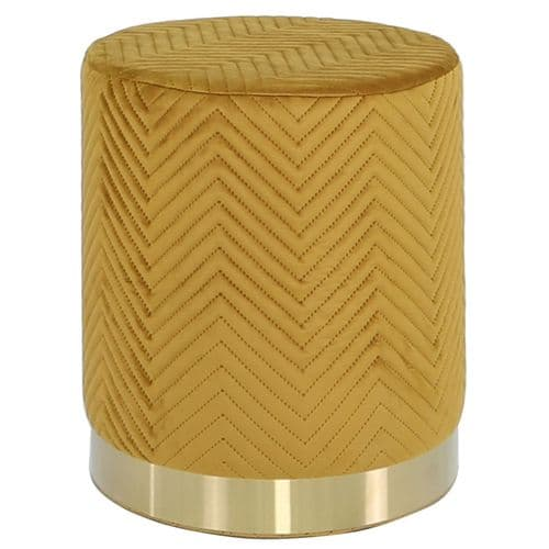 Round Stool Mustard Gold Base