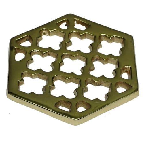 Set of 4 Gold Morocco Coasters