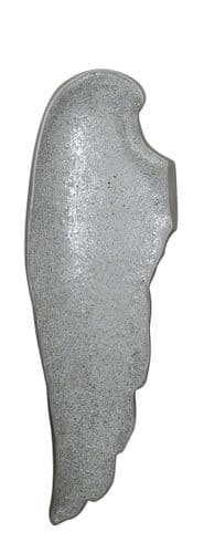 Silver Mosaic Left Angel Wing Wall Decoration
