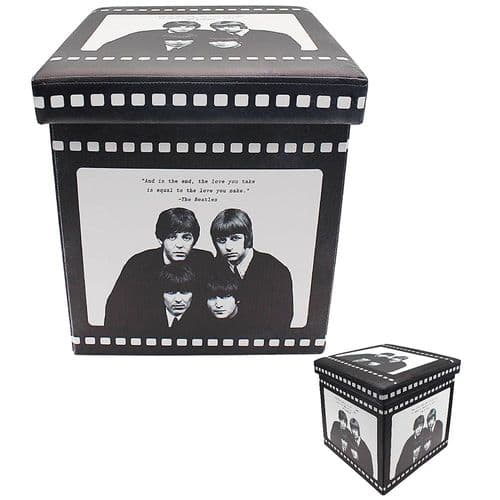 The Beatles Folding Ottoman Box
