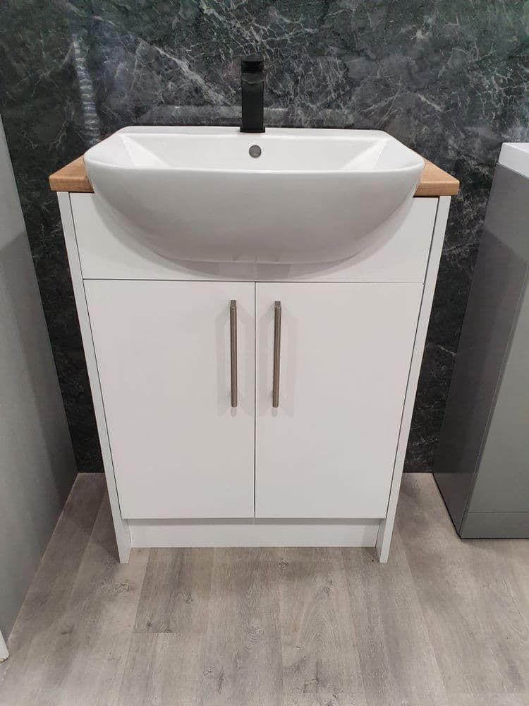 Alba (White Gloss) Vanity Unit
