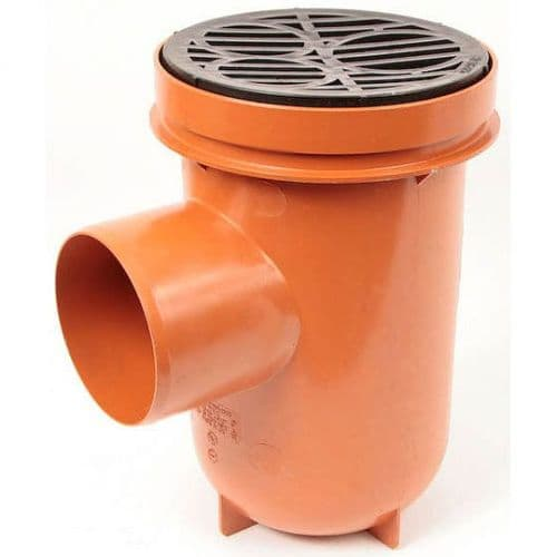 Polypipe UG425  Underground Drainage 110mm Plain Bottle Gully (Rodable) With Grid