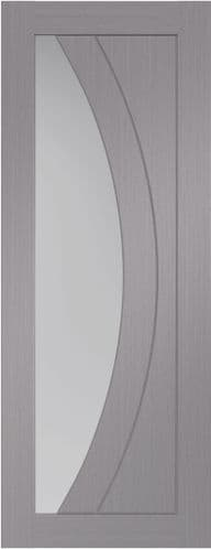 Salerno Light Grey Pre Finished Clear Glass