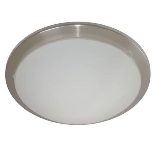 CEILING LIGHT CHROME GX53 LED 290MM DIA