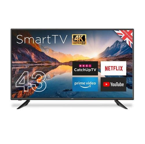 """CELLO 43"""" ANDROID SMART FREEVIEW 4K TV"""