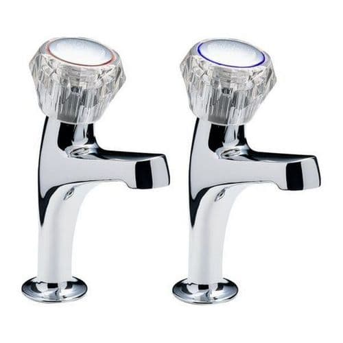 CHROME HIGH NECK PILLAR TAPS