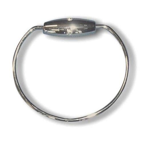 CHROME PLATED TOWEL RING