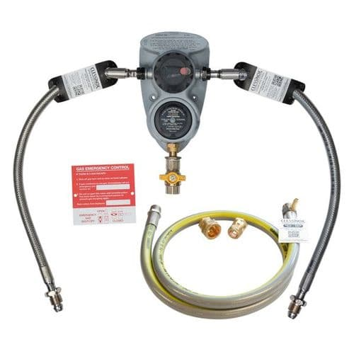 CLESSE COMPACT R800 OPSO 2 CYL ACO WITH STAINLESS 1.2M HOSE & PIGTAILS