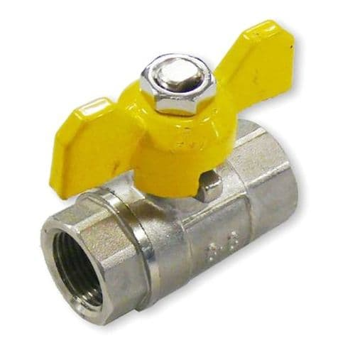 Gas Ball Valve  BSP Female Ports with Standard Handle