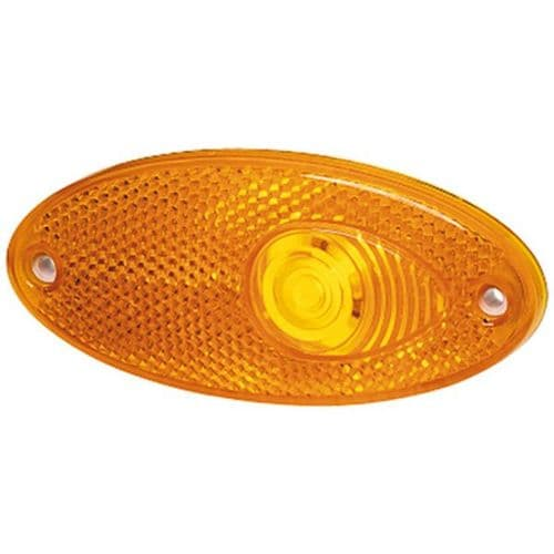 Hella Side Marker Light with Amber Reflector