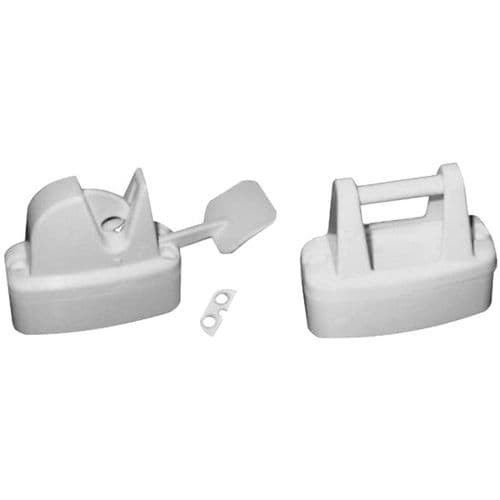 Lever Release Door Retainer White