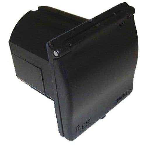 Mains Inlet Flush Black