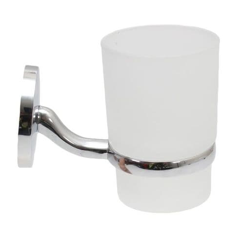 MAYFAIR CHROME PLATED TUMBLER AND HOLDER