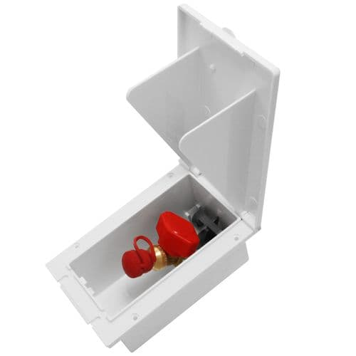MPK Gas Outlet Box with Valve - Signal White