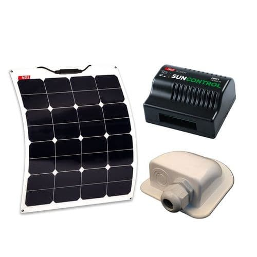 NDS Solarflex Panel Kit 55W + MPPT Control + Cable Gland