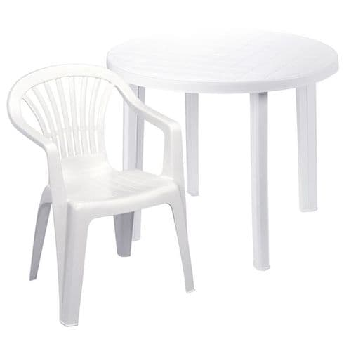 Resin Table and 4 Chairs