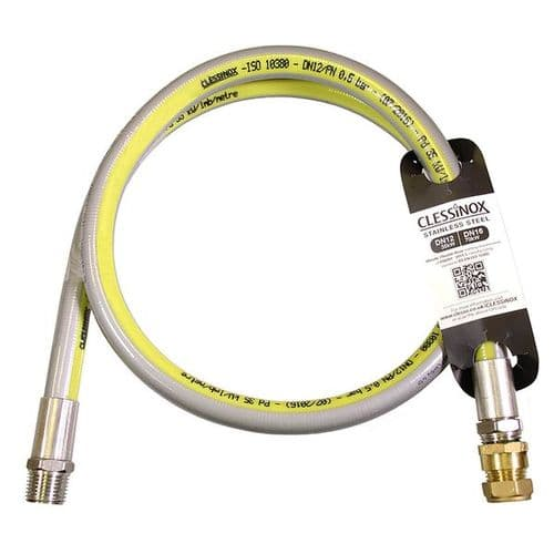 STAINLESS METER BOX HOSE 1.2MTR