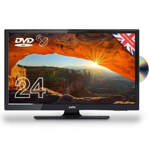 """TELEVISION/DVD LED HD READY 24"""" CELLO DVD / SAT RECEIVER"""
