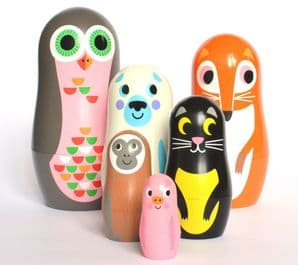 Animal Matryoshka Set of 6 nesting dolls