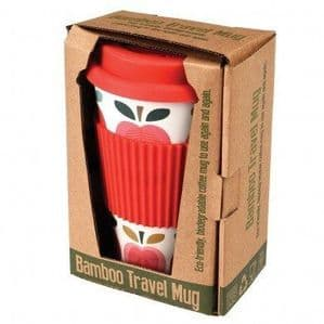 Bamboo Travel Mug - Apple design
