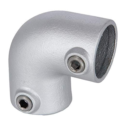 Q Clamp Handrail Fitting 125 - 90 Degree Elbow available in sizes 1-5