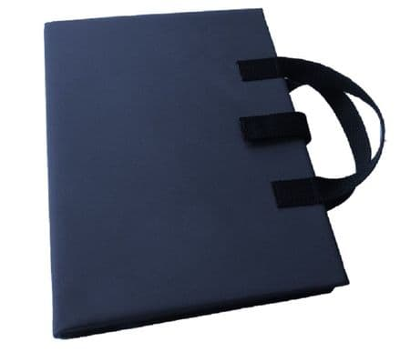 A3 Communication Book - Core & Fringe Vocabulary: Fabric Pages - Navy Blue