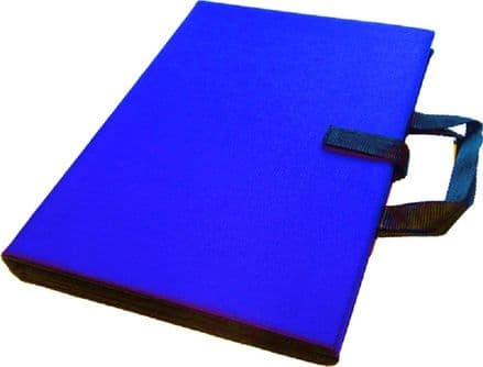 A3 Communication Book - Core & Fringe Vocabulary: Fabric Pages - Royal Blue