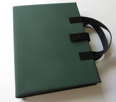 A3 Communication Book: Fabric Pages - Bottle Green