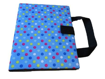 Communication Book A5 - Rigid Covers - Blue Spots
