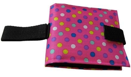 Portable Communication Book - Pink Spots