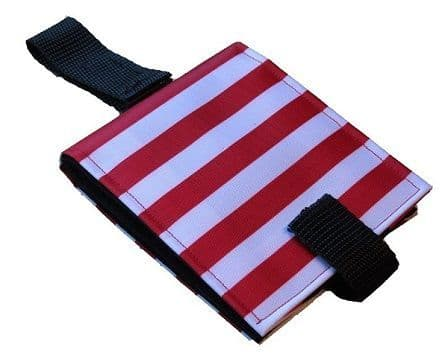 Portable Communication Book - Red Stripes