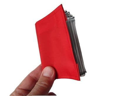 Pocket Communication Book - Clear Pocket Pages - Red