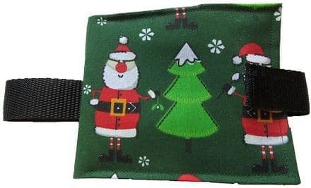 Portable Communication Book - Christmas Santa Green