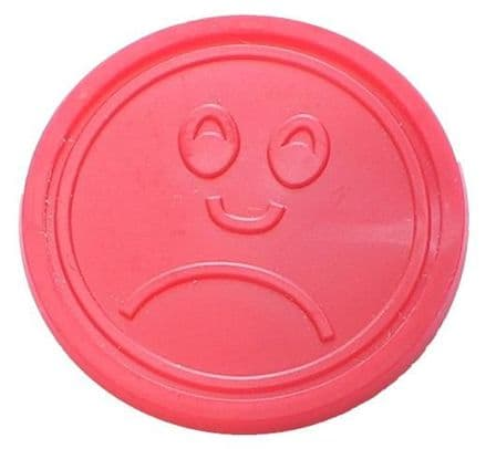 Red Sad Face Plastic Token (25mm)