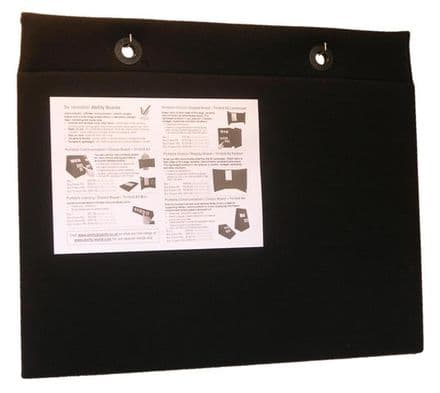 Two-sided Portable Choice / Display Board - Wall-mountable - Black - 60 x 40cm (Approx. A2)