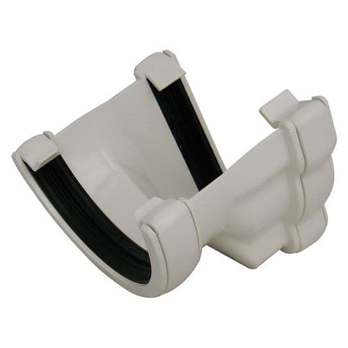 Left Hand Adapter to Half Round Gutter