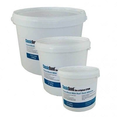 Water Based EPDM Adhesive for adhering One Piece of Membrane to a timber deck.