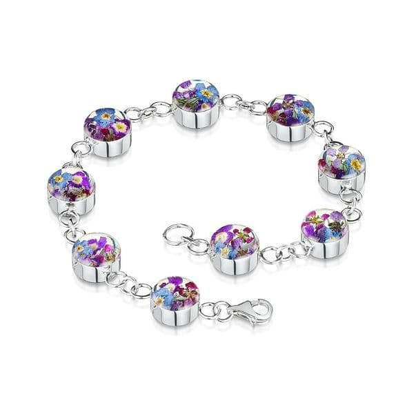 Purple Haze - Silver Bracelet - Round Charms