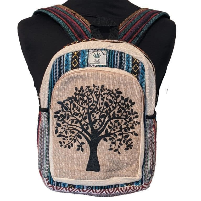 Small Tree Of Life Backpack in Hemp and Cotton