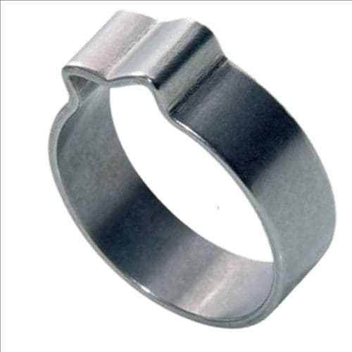 10mm - 12mm Stainless Steel Single One-Ear 'O' Clip