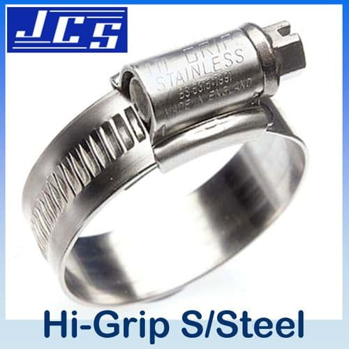 17mm - 25mm JCS Hi-Grip Stainless Steel Hose Clip Size OX