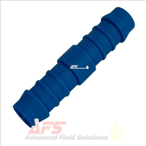 """19mm (3/4"""") Straight Hose Joiner Tefen Equal Nylon Blue Connector Fitting"""