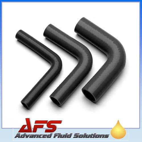 """22mm (7/8"""") BLACK 90° Degree SILICONE ELBOW HOSE PIPE"""