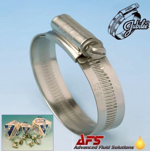 30mm - 40mm Original Jubilee Stainless Steel Worm Drive Hose Clip